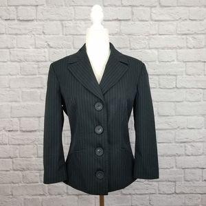D&G Dolce & Gabbana black pinstripe vintage blazer